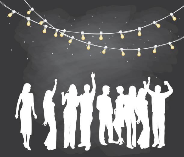 backyard party - anniversary clipart stock illustrations