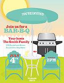 Backyard summer celebration invitation design template