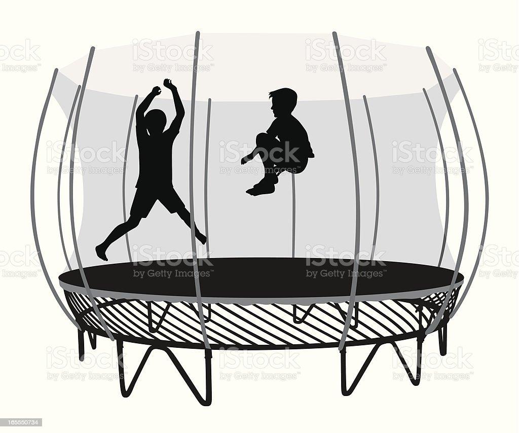 backyard trampoline vector silhouette stock vector art 165550734