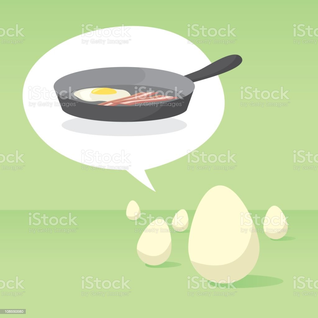 Bacon and egg. Humm! royalty-free stock vector art