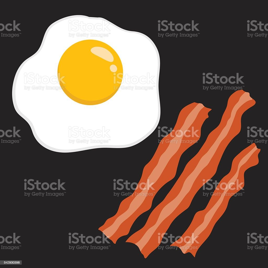 Bacon And Egg Vector Illustration vector art illustration