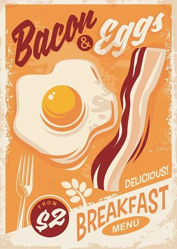 Bacon and Eggs breakfast menu