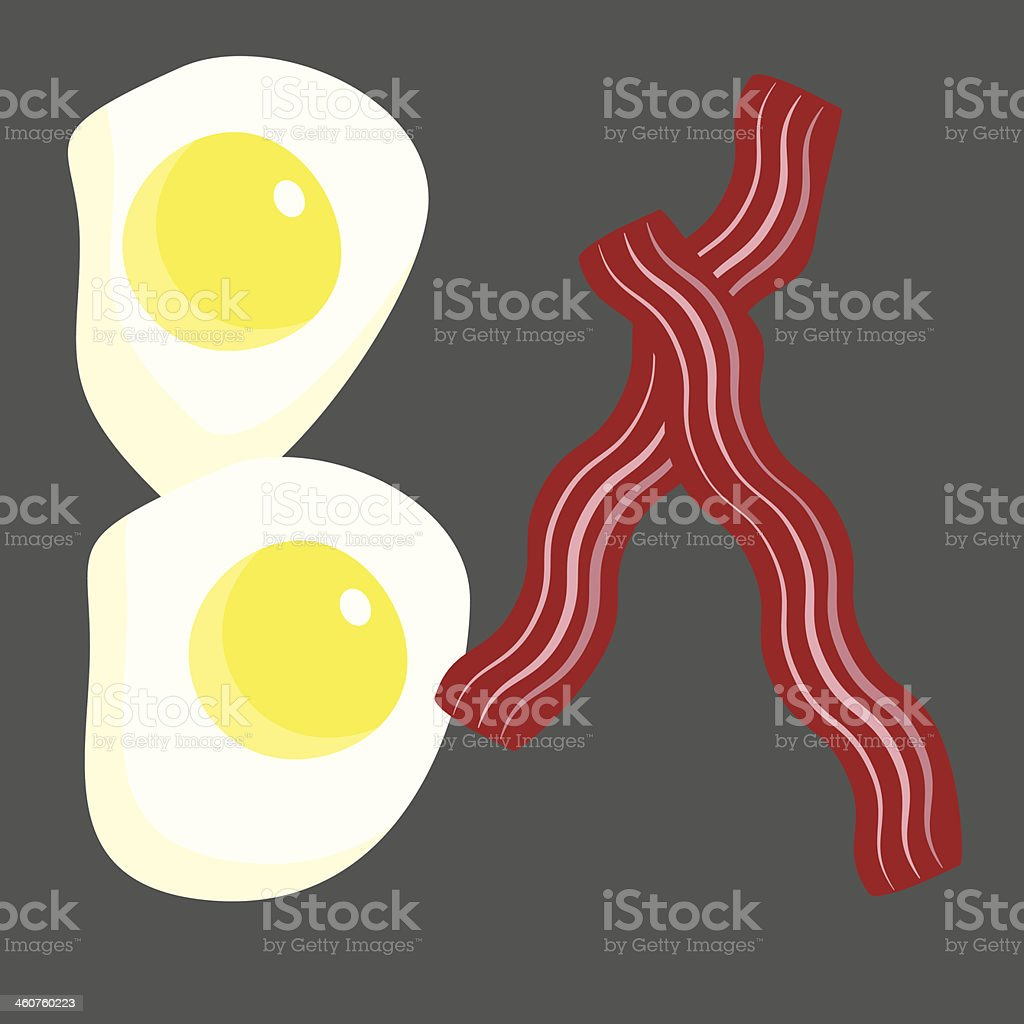 Bacon and Eggs royalty-free bacon and eggs stock vector art & more images of above