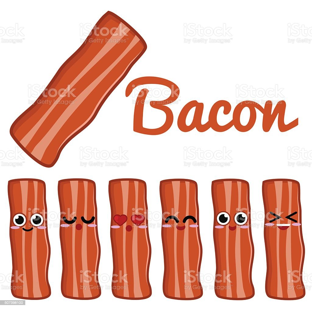 Bacon Character vector art illustration