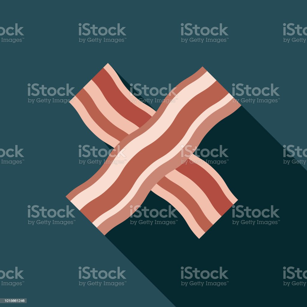 Bacon Flat Design Breakfast Icon vector art illustration