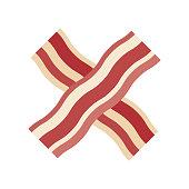 istock Bacon Flat Design Meat Icon 1025006018