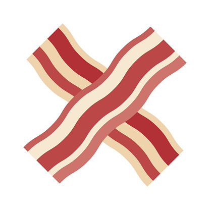 Bacon Icon on Transparent Background