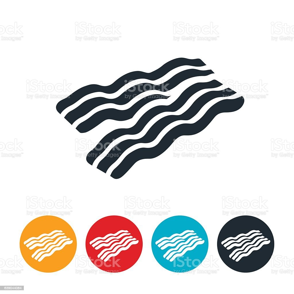 Bacon Icon vector art illustration