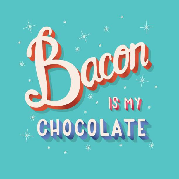 Bacon is my chocolate hand lettering typography modern poster design, vector illustration vector art illustration