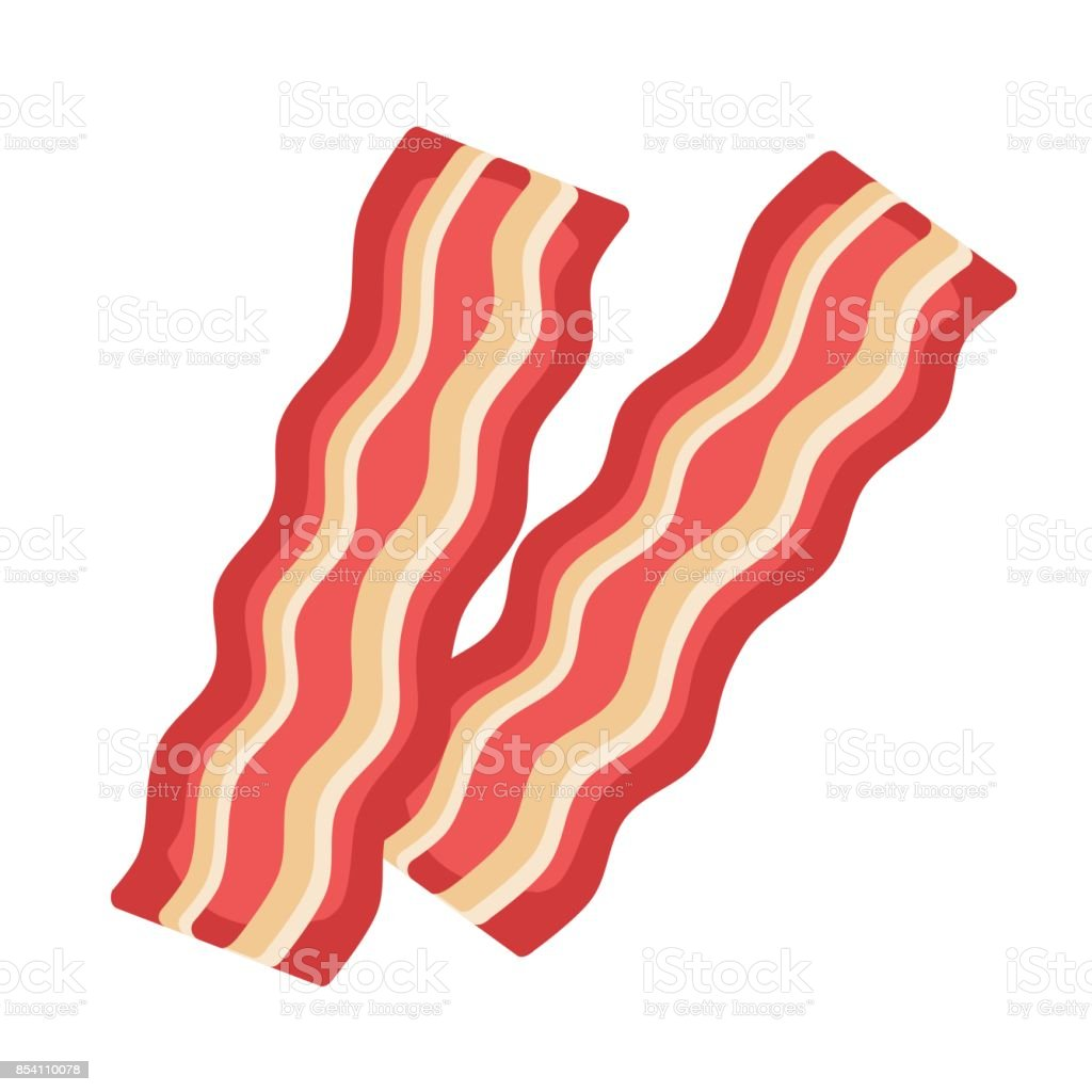 Bacon strips vector art illustration