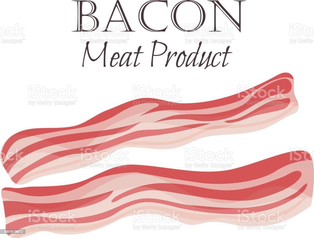 Bacon strips vector illustration vector art illustration