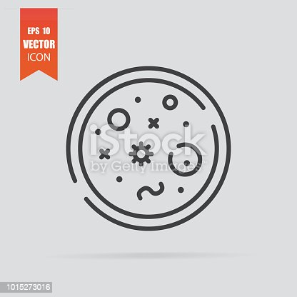 istock Bacteria icon in flat style isolated on grey background. 1015273016
