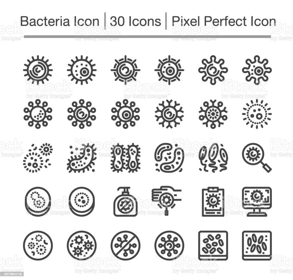 bacteria icon vector art illustration