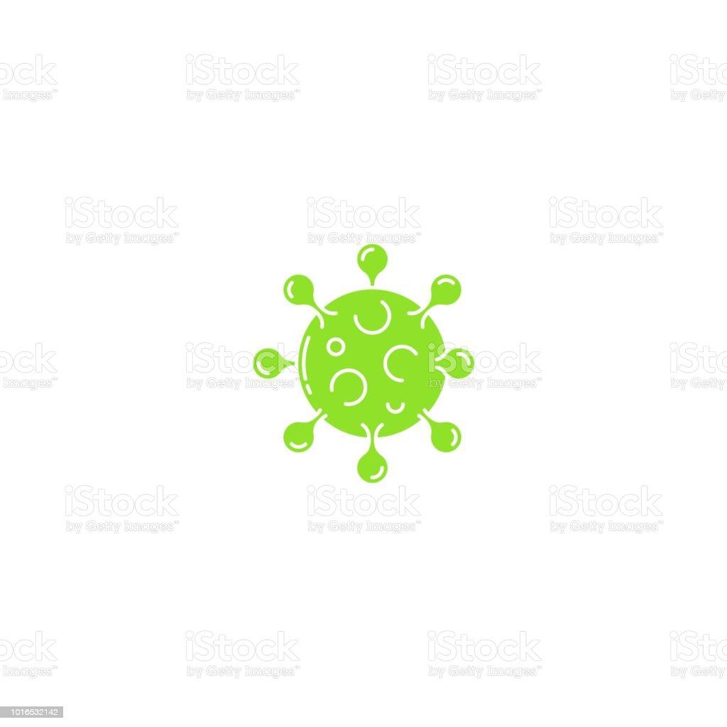 Bacteria microbe virus parasite icon vector art illustration