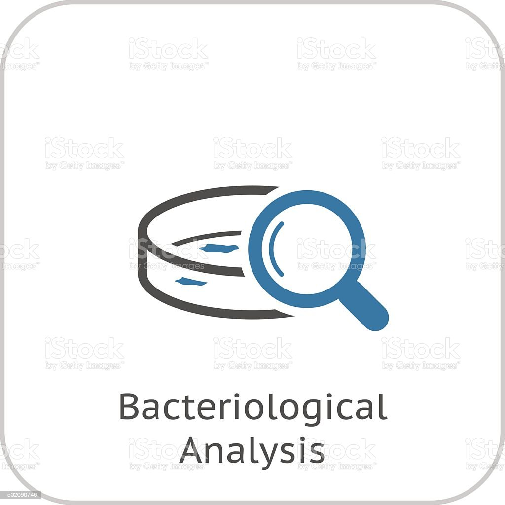 Bacteriological Analysis Icon. Flat Design. vector art illustration