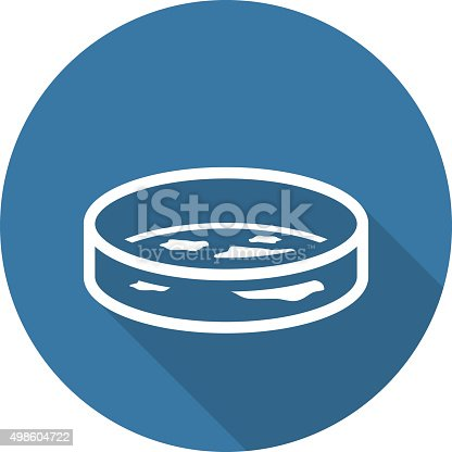 Bacteriology Icon with Shadow. Flat Design. Isolated Illustration.