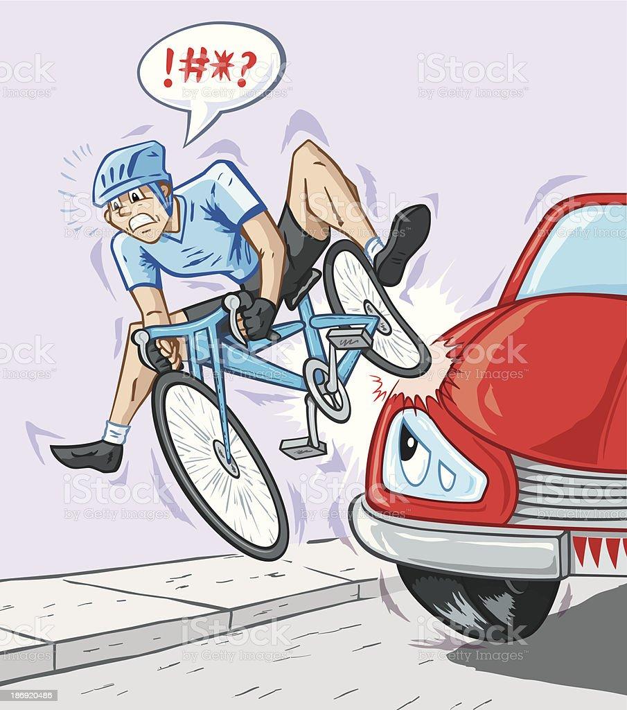 Bad accident vector art illustration