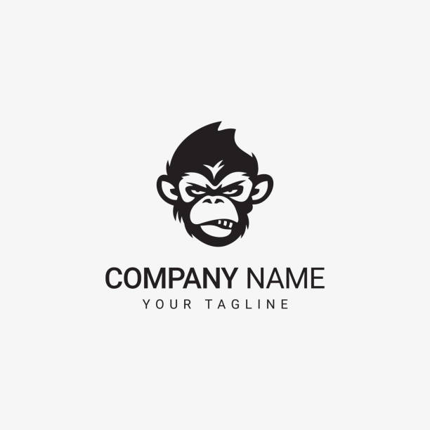 Bad Ape icon Bad Ape icon can be use for general company monkey stock illustrations