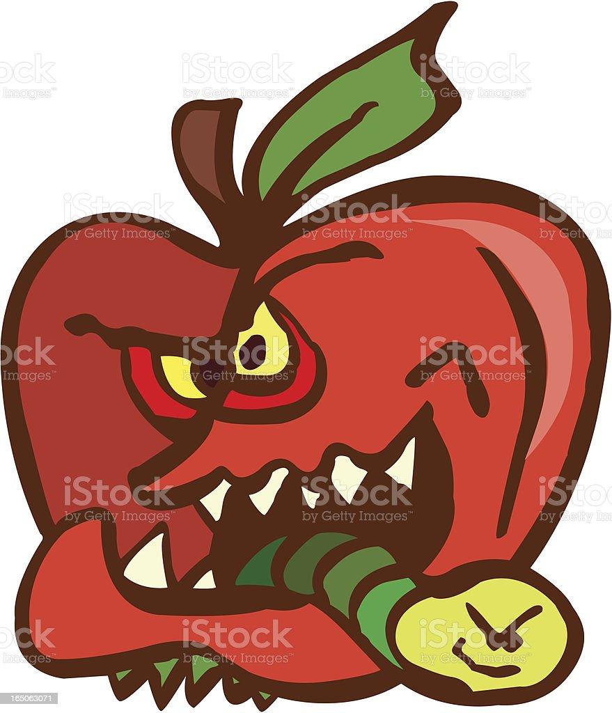Bad Apple royalty-free stock vector art