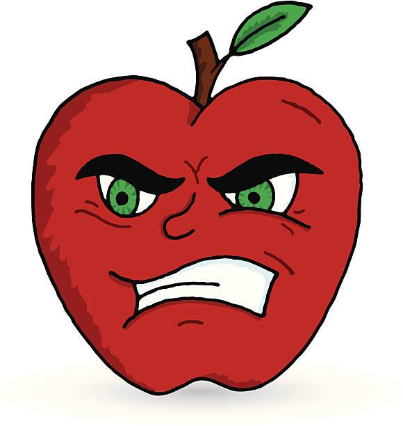 bad apple - rotten apple stock illustrations, clip art, cartoons, & icons
