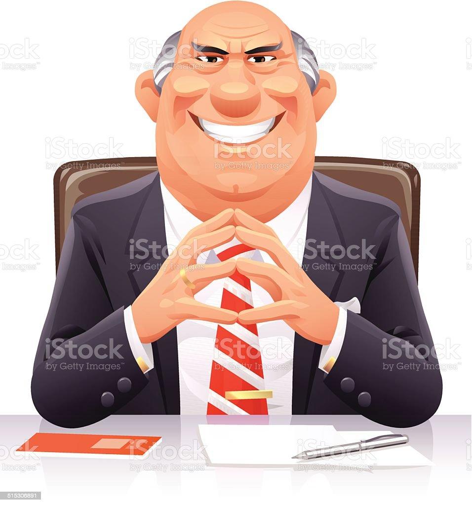 Bad Banker vector art illustration