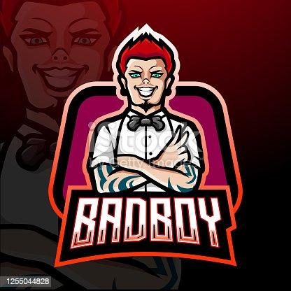 Bad boy esport mascot design
