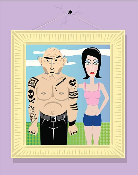 Bad Boyfriend vector art illustration