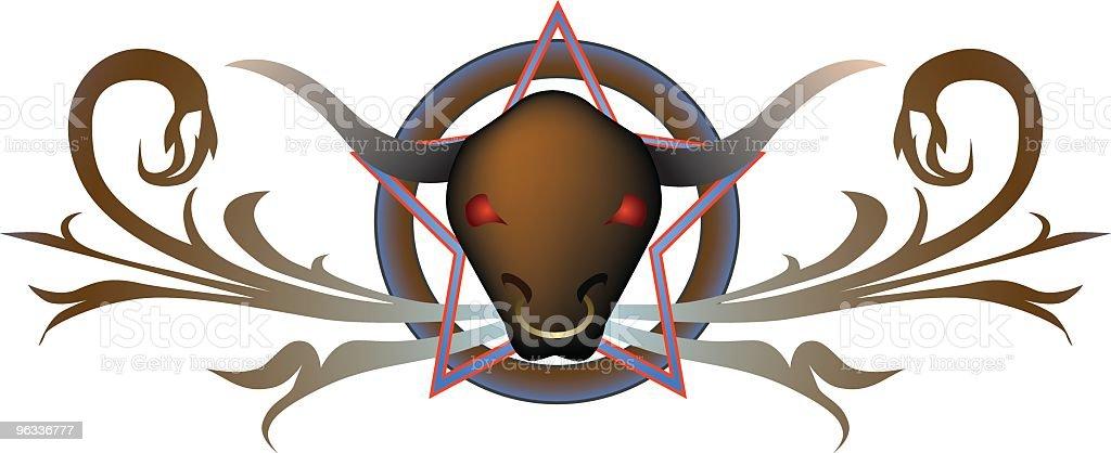 Bad Bull royalty-free stock vector art