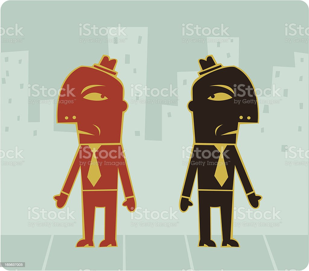 Bad Business Meeting royalty-free stock vector art