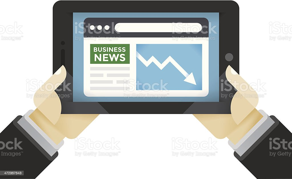 Bad Business News - Recession and Crisis royalty-free stock vector art