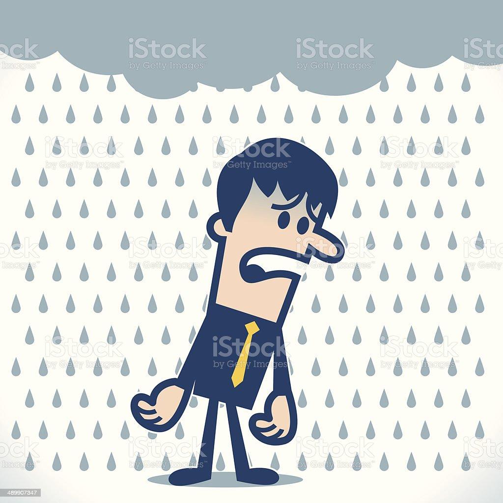 Bad day vector art illustration