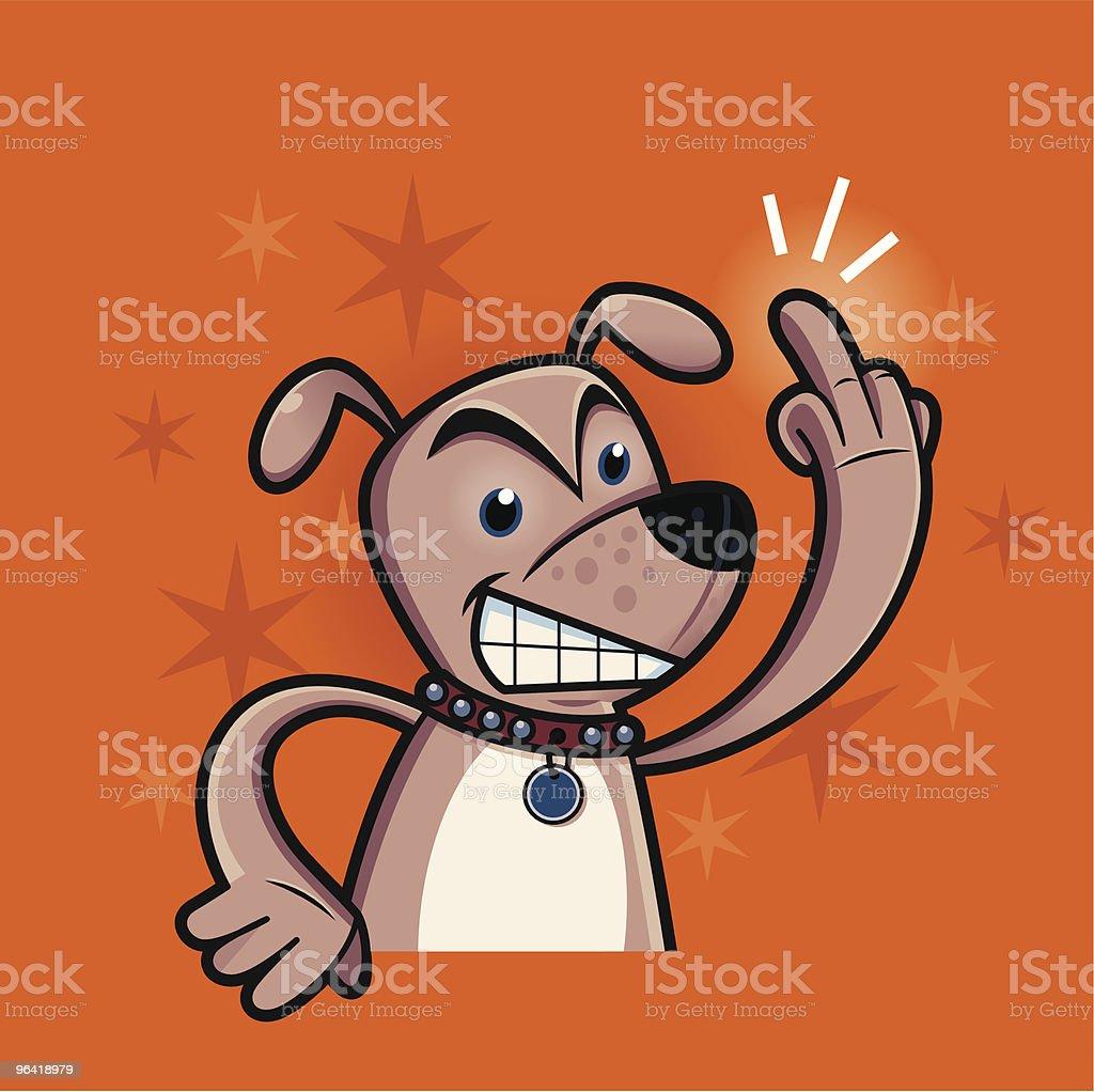 Bad Dog! vector art illustration