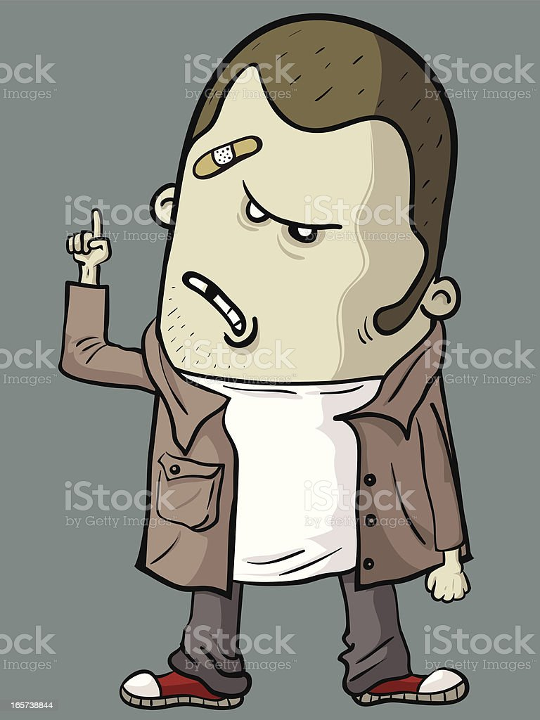 Bad Guy pointing at something royalty-free stock vector art