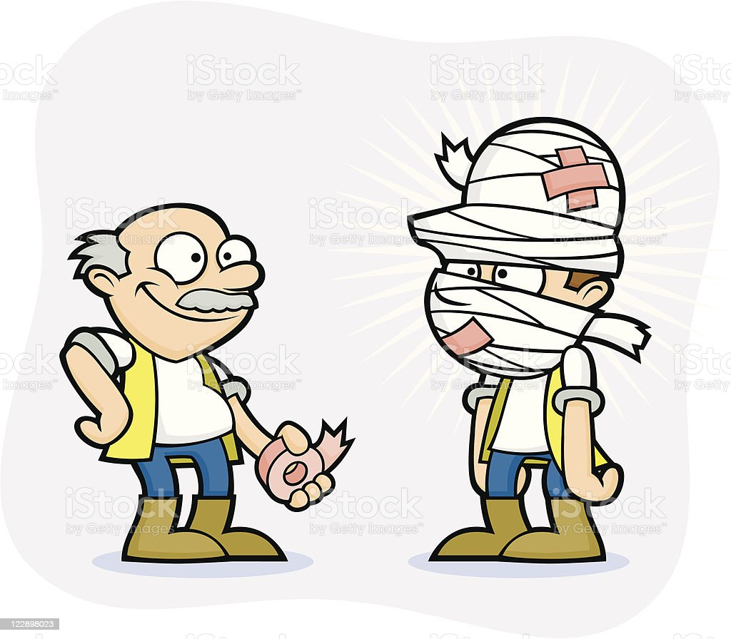 Bad Health and Safety Workmen - First Aid Bandage