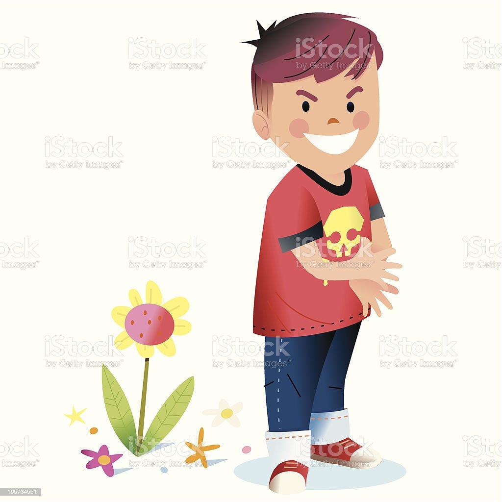 Bad Kid vector art illustration