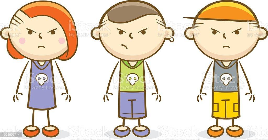 Bad Kids vector art illustration