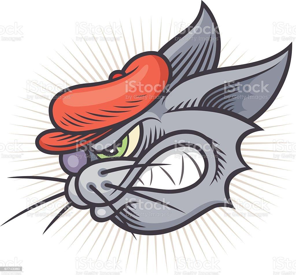 Bad Kitty! royalty-free stock vector art