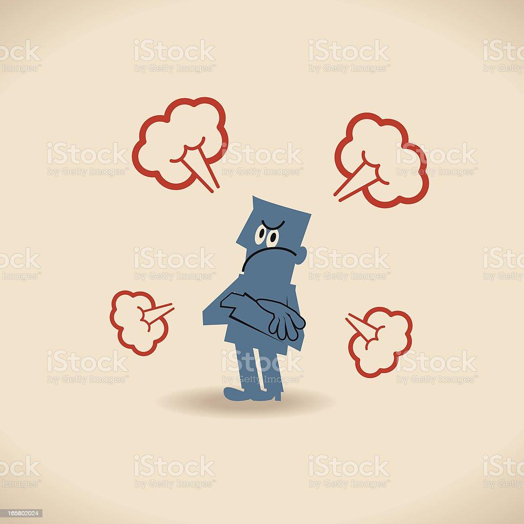 Bad mood vector art illustration