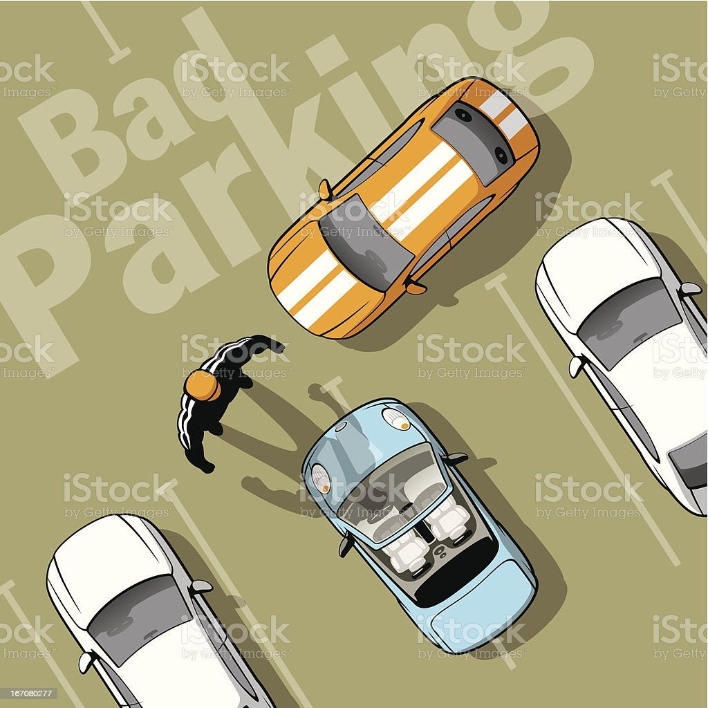 Bad parking vector art illustration
