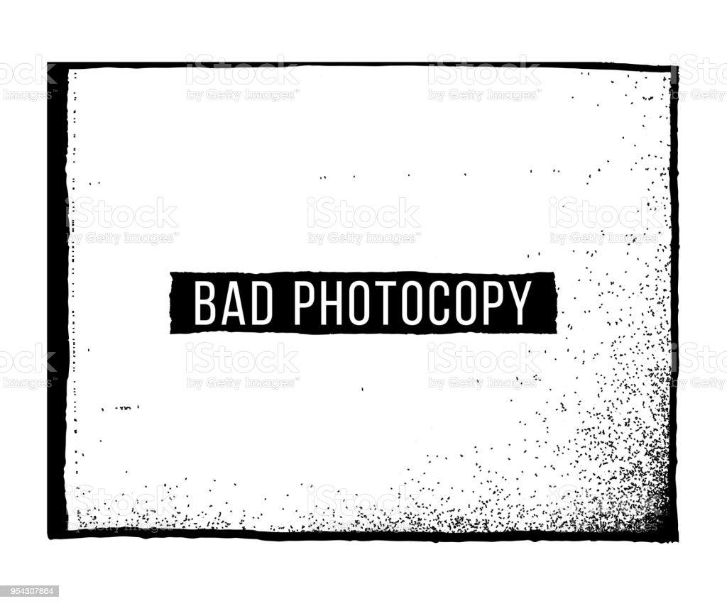 Bad Photocopy Texture and Frame