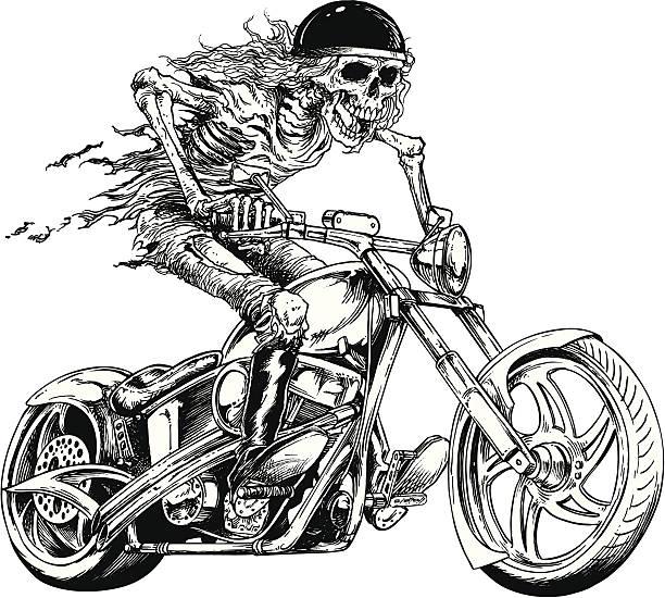 Bad Rider vector art illustration