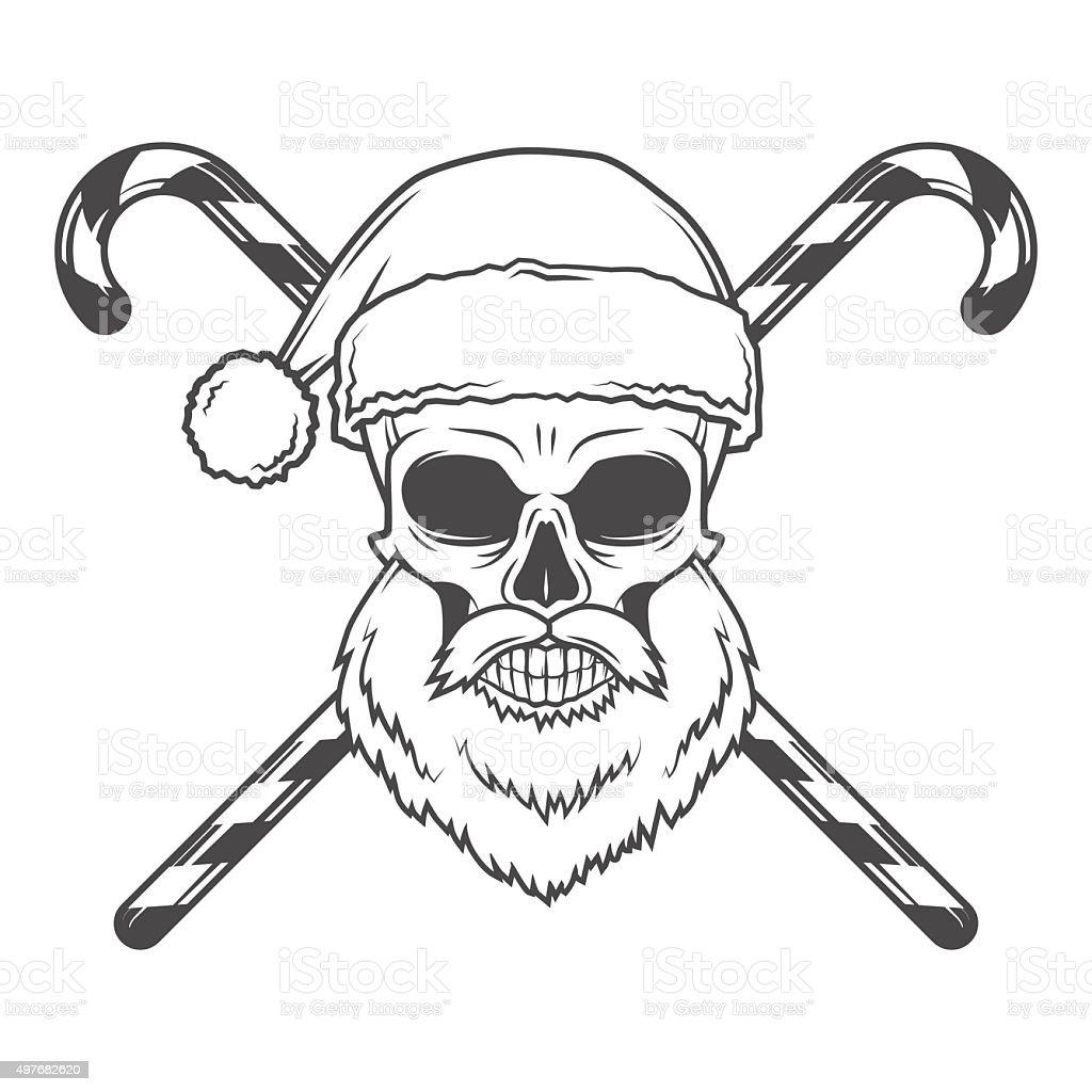 Heavy Metal Christmas.Bad Santa Claus Biker With Candies Poster Heavy Metal