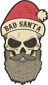 bad santa skull