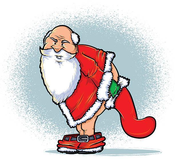Bad Santa vector art illustration