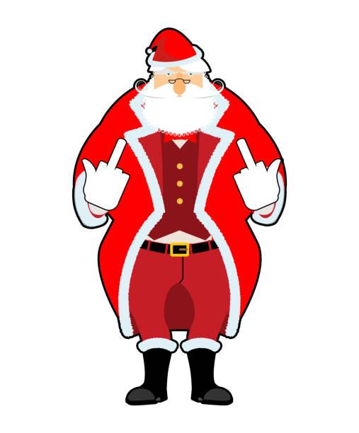 bad santa - old man smoking cigar stock illustrations, clip art, cartoons, & icons