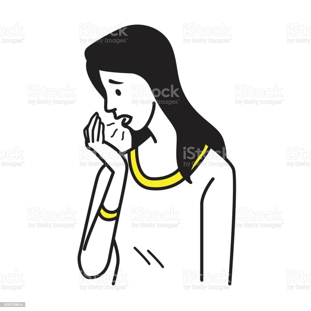 Bad smell breathing vector art illustration