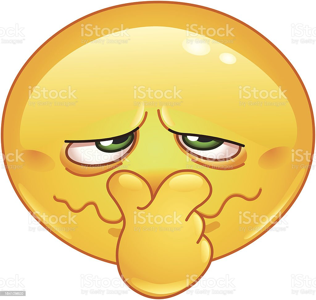Bad smell emoticon vector art illustration