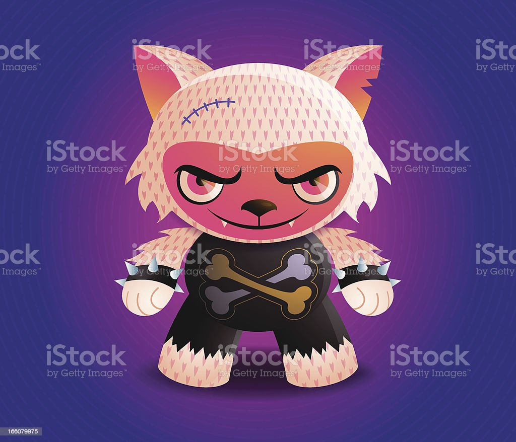 Bad Wolf Tanki Character royalty-free stock vector art