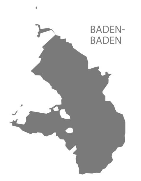 baden-badener kreiskarte baden-württemberg - schwarzwald stock-grafiken, -clipart, -cartoons und -symbole