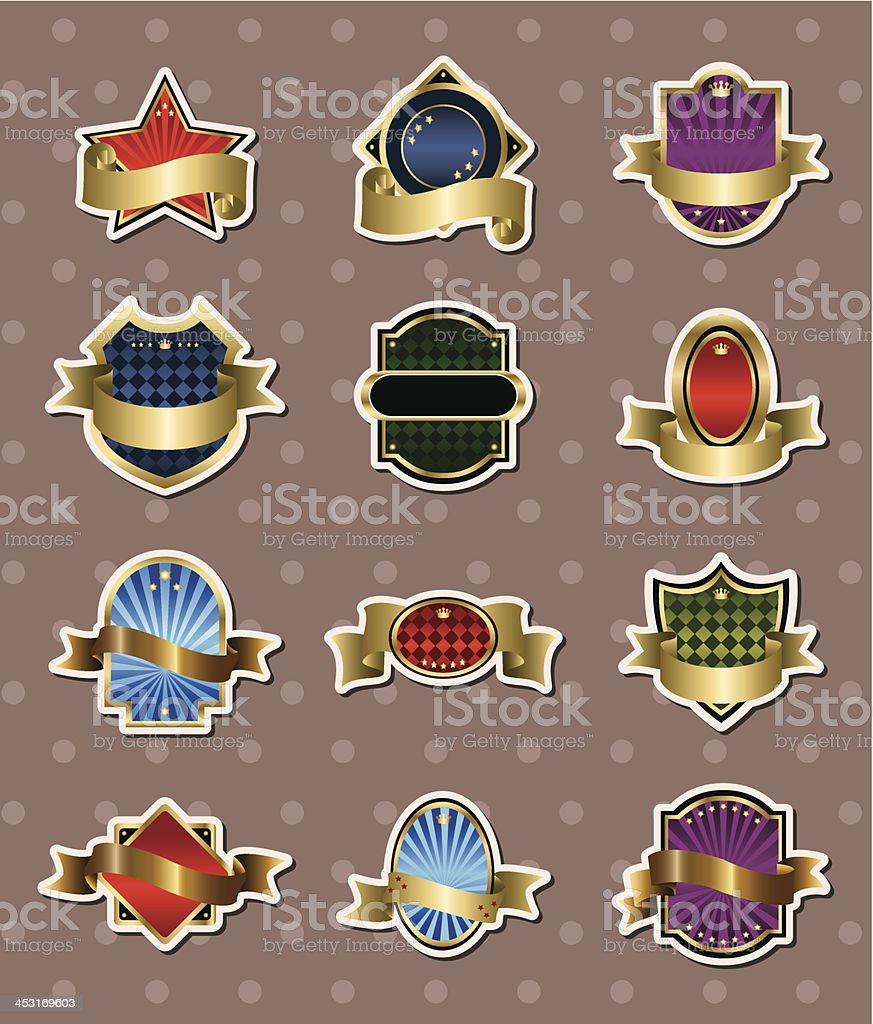 Badge banner stickers royalty-free stock vector art